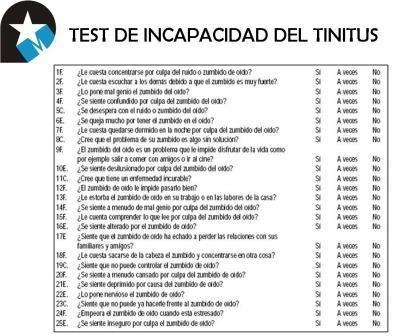Cuestionarios para diagnosticar un acúfeno