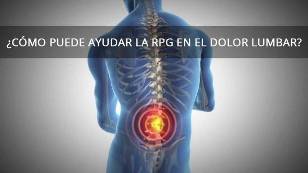 ¿Cómo puede ayudar la RPG en el dolor lumbar?