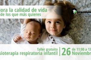 Taller gratuito de fisioterapia respiratoria infantil