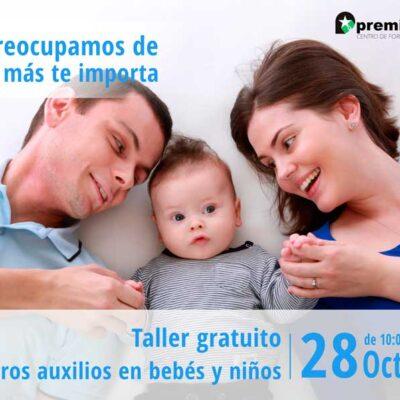 Taller gratuito de primeros auxilios en bebés y niños