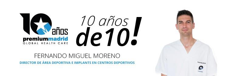 Premium Madrid 10 años de 10: Fisioterapia en clubs deportivos