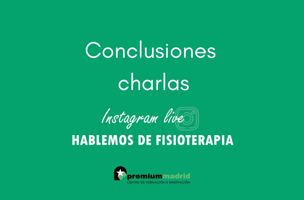 """Conclusiones de las charlas """"Hablemos de fisioterapia"""""""
